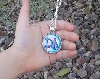 Frozen Inspired Initial Necklace