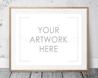 Styled Frame Mockup, Contemporary print, Wooden Frame Mockup, Modern art, Styled PhotoMockup, Mock-up, Digital Frame, Instant download