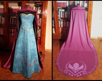 Elsa Frozen Coronation Dress cosplay costume