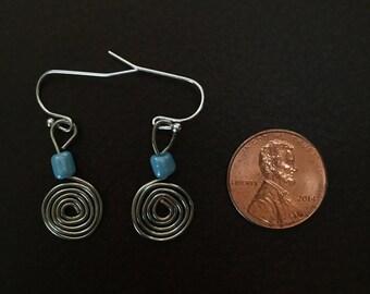 Spiral Dangle Earring