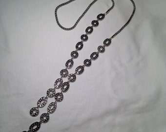 """32"""" Steel Silver Necklace"""