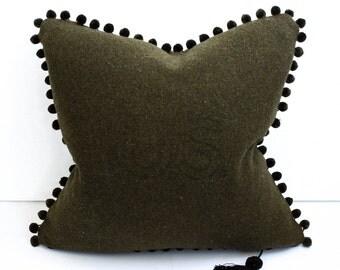 POM+Wool Army Blanket Pillow