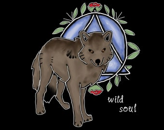 Therian Brown Wolf Shirt
