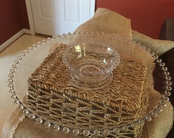 Candlewick plate with small bowl.