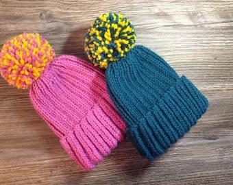 Шапка для детей, шапочка с отворотом и помпоном,Baby Hat&Cap,Baby Beanie Hats,Children's cap,Baby Beanie,Baby Girl Hat,Baby Boy Hat