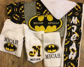 Batman baby gift set.