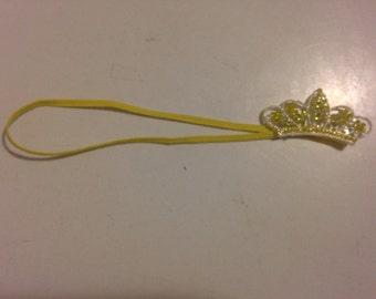 Yellow Rhinestone Headband