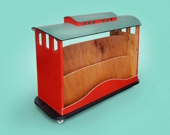 Kids Bookshelf | Book Trolley | Childrens Bookcase | Toy Storage | Toy Box