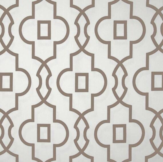 Tan Taupe Beige White Curtain Panels Modern Ecru by SewManyLinens