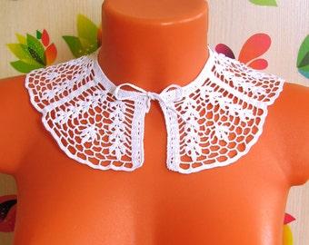 Воротничок Цветочный Crochet collar