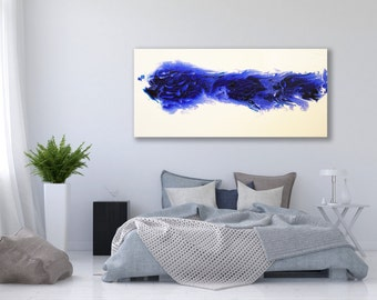 XL Blue Abstract Painting / Abstract Art / Contemporary Art / Blue Painting / Minimalist Painting / Blue Abstract Painting / Large Art