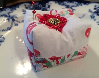 Vintage Fabric Pincushion