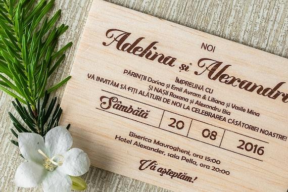 Real Wood Wedding Invitations: Real Wood Wedding Invitation Rustic Wedding Invitation