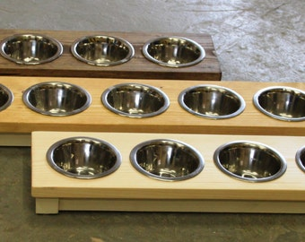 Wooden five bowl Cat/Puppy table