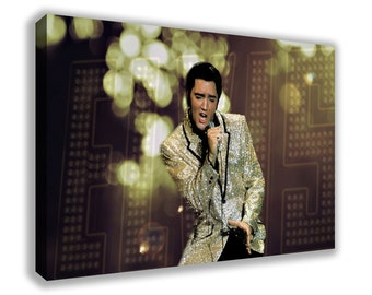 ELVIS PRESLEY THE King Of Rock And Roll Canvas Wall Art