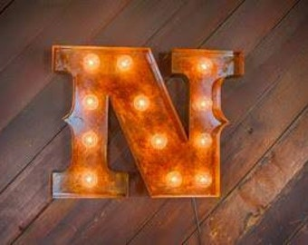 Metal Letter Marquee Lighting