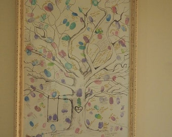 Wedding Guestbook Fingerprint Tree