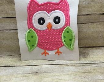 Owl Applique, Owl Embroidery Applique, Owl Embroidery Design