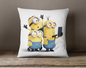 Minion Throw Pillow Case Cushion Cover Minion Decorative Pillow Case Minion Home Gift Guest Room
