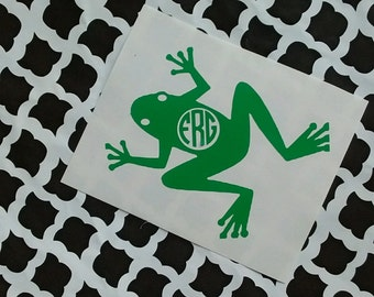 Frog Decal /Toad Decal/ Frog Monogram/ Toad Monogram/ Frog Sticker/ Frog Monogram/Amphibian Monogram/YETI Decal