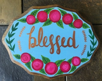 Custom Hand Painted Plaque
