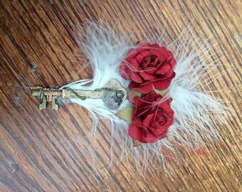 Key red roses