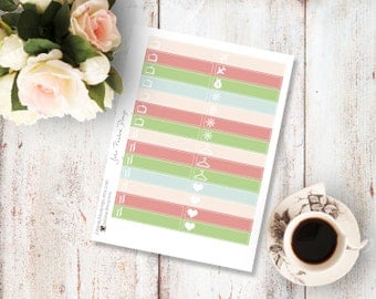 Planner Stickers for the vertical Erin Condren Life Planner - Up In The Sky Kit Little Things Sheet