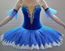 Royal Blue Grand Pas Classique stretch professional ballet tutu