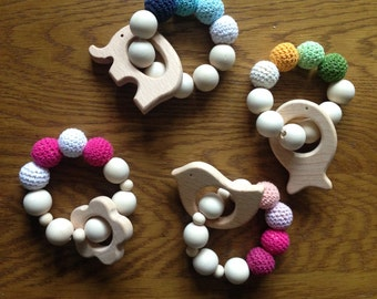 Wooden Baby Teething Toy