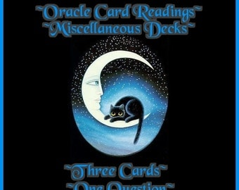 Oracle Card Reading- Three Card- One Question Reading.