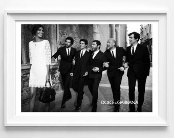 Poster poster gloss Dolce & Gabbana black and white, female and original decoration for the House.