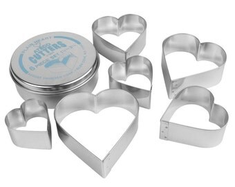 Ateco Heart Cutter 6pcs Set