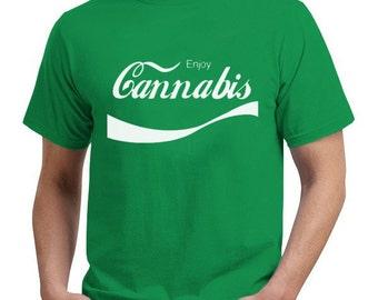 Enjoy Cannabis Green T-Shirt