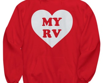 Gift For RVer - Love My RV Heart Tshirt