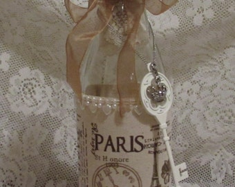Altered Bottle, Shabby Chic, French Vintage