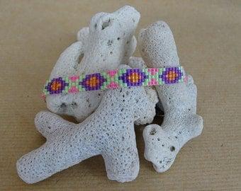 Miyuki pattern diamond bracelet