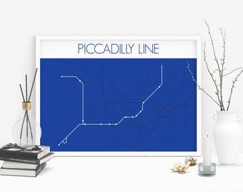 London Underground Piccadilly Line Route Tube Map