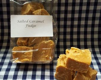 Home made Salted Caramel Fudge