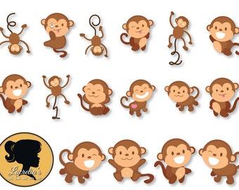 Monkey svg silhouette - Monkey  funny svg -  Animals Svg - Love Monkey's -(zipped .eps .pdf .dxf .svg and .studio file) vector cutting files