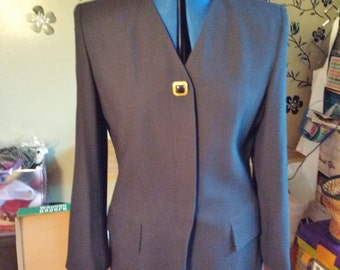 Vintage Kasper Dark Blue Suit