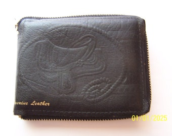 Kids Genuine Leather Western Zippered Wallet