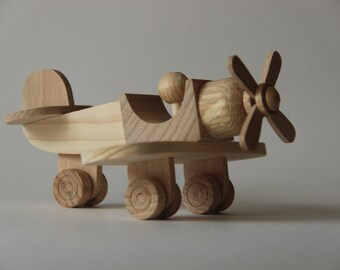 "Wooden toy airplane ""Curve"",children toy, eco friendly toy"