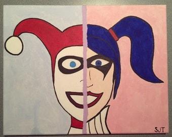 Harley Quinn acrylic painting