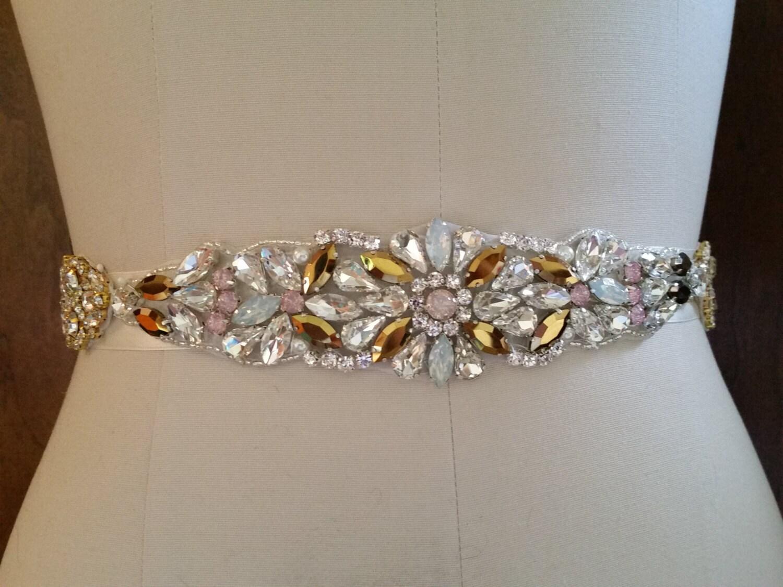 wedding dress sash belt vintage gem wedding sash belt