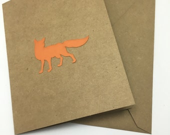 Orange Fox - Handmade Greeting Card