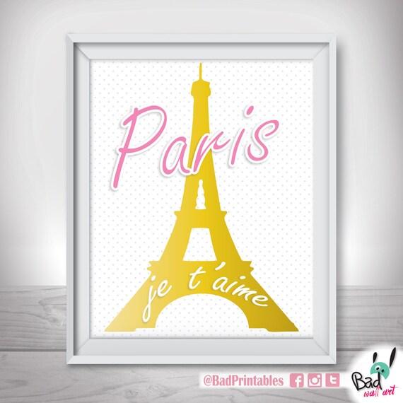 Eiffel Tower Wall Art paris wall art printable french wall decor printable poster