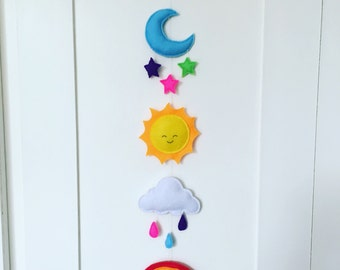 Happy weather wall hanging