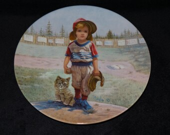 """1982 Vague Shadows The Professional Series """"The Major Leaguer"""" Collector Plate by Gregory Perillo"""
