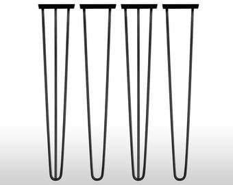 4x Hairpin Table Legs 70 cm Haarnadelbeine Mid Century