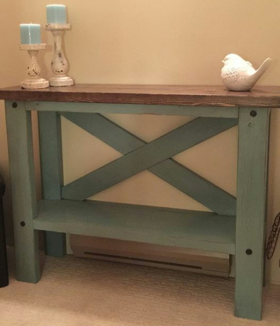 Farmhouse Sofa Table By Modernelementshome On Etsy